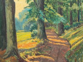 "Wilhelm Reinicke, ""sunny Forest Trail"", Germany, Around"
