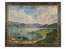 Alfred Otto (1873-1953), Bavarian Lake, Oil, 1st H.