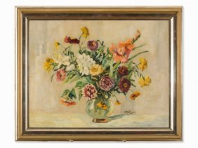 Otto Beyer (1870-1955), Flower Still Life, Oil, Circa