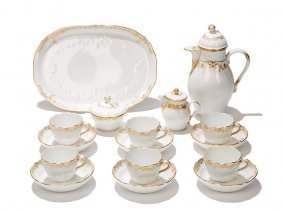 Mocha Set Neu-marseille For Six, Meissen, 20th C