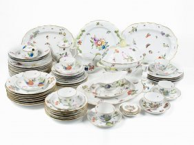 72 Piece Porcelain Service, Herend, Around 1873