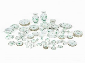Herend, Extensive Service Apponyi, Green, 87 Pieces,