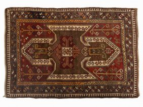 Kasak Sewan Rug With A Geometric Pattern, Caucasus