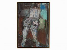 Endre Nemes (1909-1985), Reclining Female Nude, Oil,