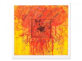 Hermann Nitsch, Serigraph, Abstract Signs, Austria,