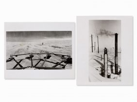 Emil Schulthess, 2 Photos, Antarctica–white Continent,