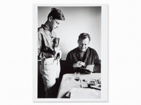Will Mcbride, Willy Brandt With His Son Peter, Signed,