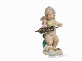 Meissen, Small Figurine 'cupid As Doctor', C. 1770