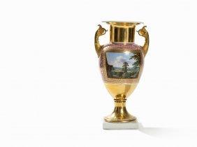 Kpm, An Ornamental Vase With Palais Vedutas, C. 1840