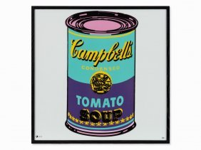 After Andy Warhol, Campbell's Soup, Porcelain Wall