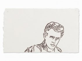 Andy Warhol, James Dean, Drawing, Usa, C. 1985