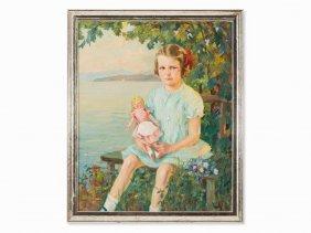 Edward Cucuel (1875-1954), Painting, Portrait Of A