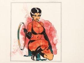 Allen Jones, Woman-splash (kneeling Woman), Lithograph,