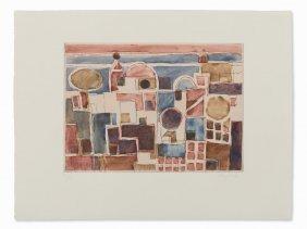 Eduard Bargheer, Forio D'ischia, Aquatint In Colors,