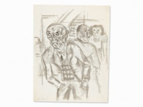 Endre Nemes (1909-1985), Empty Handed, Drawing, 1929