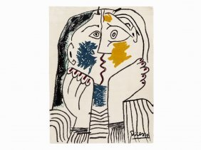 After Pablo Picasso, Le Baiser, Rug, 1979/80