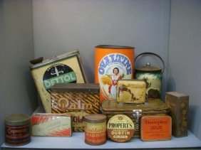 A Selection Of Assorted Early Tins Including Dettol