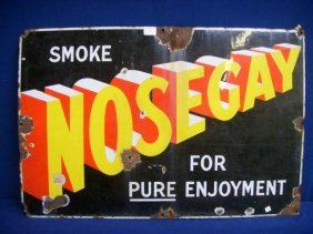 "A Nosegay Rectangular Enamel Sign, 30 X 20""."