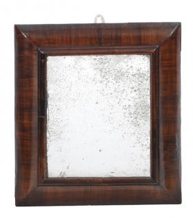 A Queen Anne Walnut Framed Wall Mirror, Early 18th