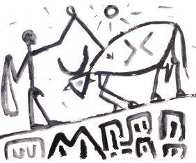 A. R. Penck (b.1939) Untitled Monochrome Acrylic O