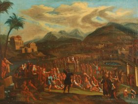 Follower Of Johannes Jacob Hartman The Procession