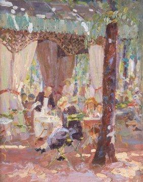 Sarah Thompson Townsend (1910-1930) A Parisian Caf