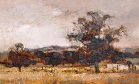 James Taylor (20th Century) Kentish Landscape