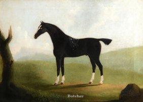 "Daniel Clowes (1774-1829) - ""butcher"" Standing In An"
