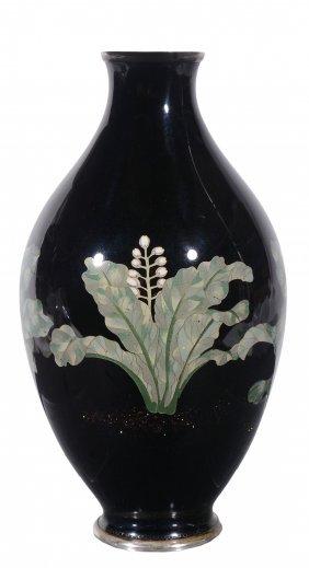 A Japanese Cloisonné Enamel Vase, Of Bulbous