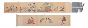 Japanese Scroll Shunga - A Japanese Shunga Makimono In