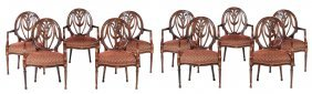 A Set Of Ten Mahogany Armchairs In George Iii Style,