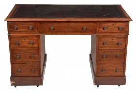 A Mahogany Twin Pedestal Desk, Early 19th Century, 78cm