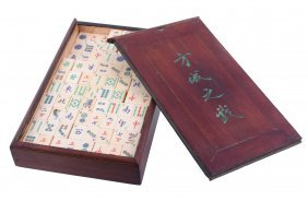 A Chinese Export Mahjong Set, Late 19th Or Early 20th