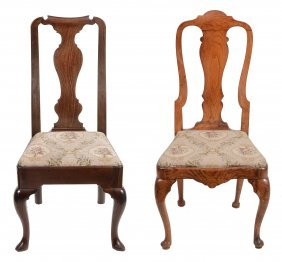 A Mahogany Fiddle Back Chair , Early 18th Century