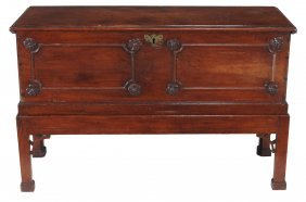 A Mahogany Blanket Box On Stand , 18th Century And