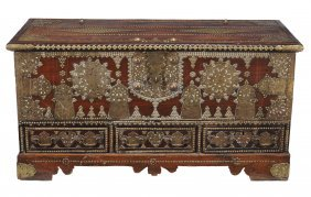 A Dutch Colonial Hardwood And Metal Mounted Chest