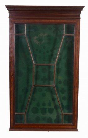 A Mahogany And Satinwood Crossbanded Wall Display