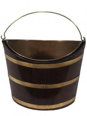 A George Iii Brass Bound Mahogany Bucket, Circa 1770,