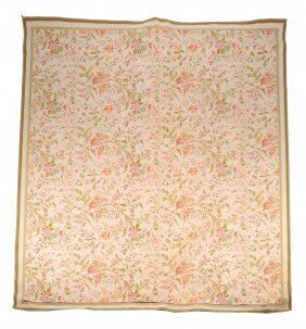 A Woven Carpet, Of Floral Design, 20th Century, 297 X