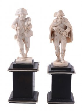 A Pair Of Central European, Probably Austrian Sculpted
