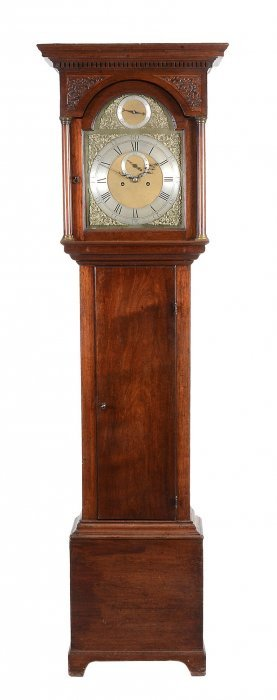 A George Iii Mahogany Eight-day Longcase Clock, John