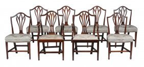 A Set Of Six George Iii Mahogany Dining Chairs , Circa