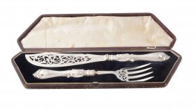 A Pair Of Victorian Silver Albert Pattern Fish Servers