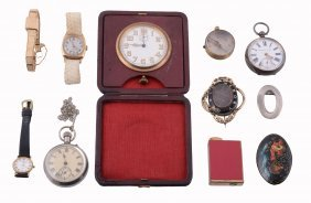 A Collection Of Costume Jewellery, To Include Brooches;