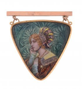 An Early 20th Century French Enamelled Brooch By Pierre