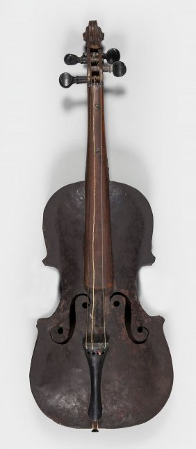 A Metal Violin, Probably English, Early 19th Century