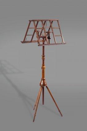 A Wheeldon's Patent Beech Duet Stand, Late 19th
