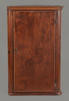 A Mahogany Hanging Corner Cupboard Probably Anglo-dutch