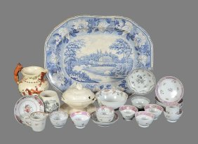 A Collection Of English China And Porcelain To Include