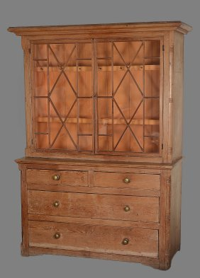 A Pine Dresser, Early 19th Century, The Glazed Top